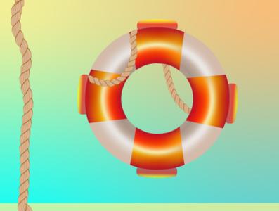 lifeguard vector illustration design