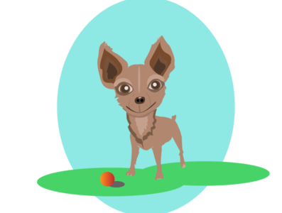 Little dog vector illustration design