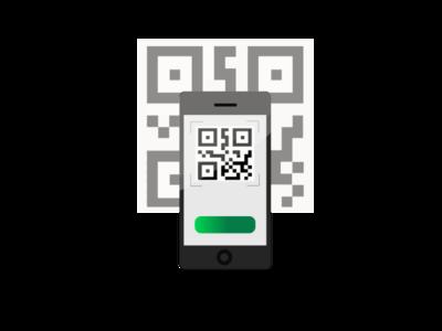 qr code type art illustrator website icon logo vector illustration design