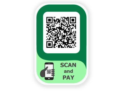 QR code for payments app website logo illustrator art icon vector illustration design
