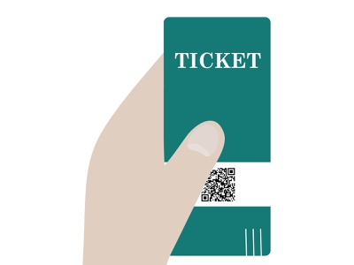 ticket branding graphic design website logo icon illustrator art vector illustration design
