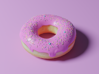 3D Donut blenderguru donut cinema4d blender 3d art 3d