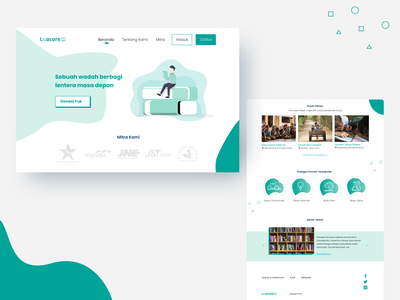 Loacare Website ux give care books donate web design