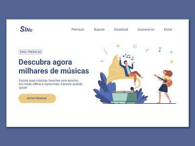 Landing Page graphic design art app landing design landing page website web minimal ux ui design