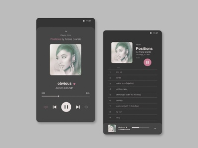Music Player player ui musician streaming music music player design app design app ui minimal