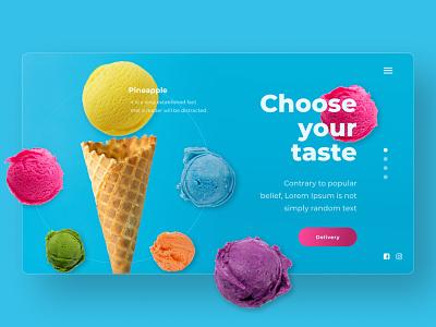 ice-cream design ui ux