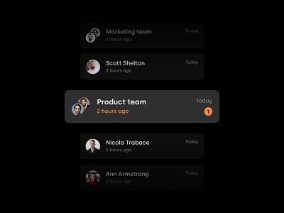 List item app avatar minimal dark dark mode conversation item list chat