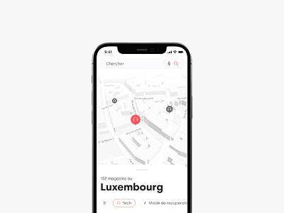 Yabe app uiux design product iphne concept map minimal app