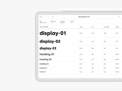 Typography system silka font light mode white mode ipad minimal type scale scale typography design system