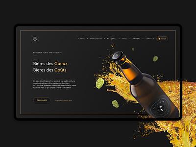 Les 2 Gueux design website beer