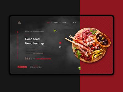 Restaurant Delizia italian design website restaurant