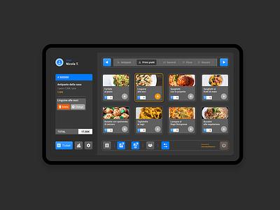Management programme for restaurants - Dark app restaurant managment uidesign ui