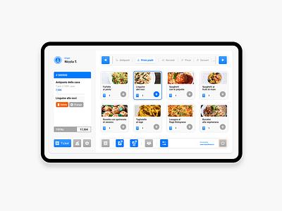 Management programme for restaurants - Light app restaurant managment uidesign ui