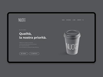 Bar Nuovo minimal gray website branding coffee bar webdesign