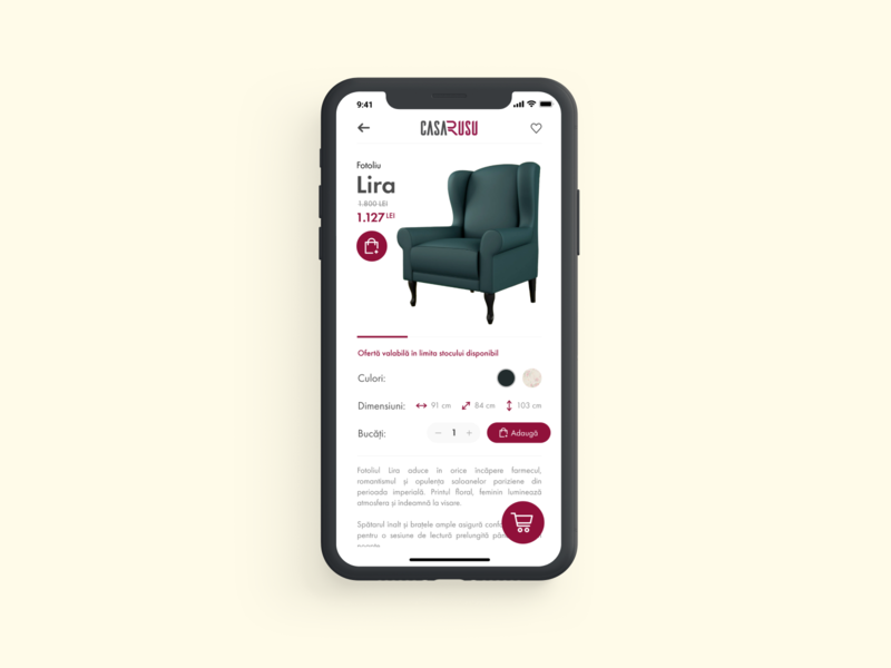 Furniture Shop App - Casa Rusu UI/UX Concept shopping app shop shop design sofa uiux ux ui ios app design interface design ios furniture app furniture shop furniture ecommerce app ecommerce app ui ux app design app ui app concept app