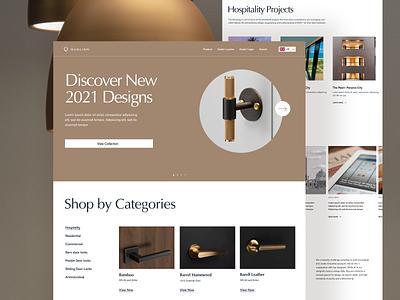 Door-Handles E-Commerce Website door-knobs e-commerce furniture ui