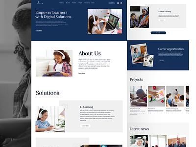 Education Website website learning education ui