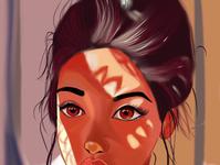 Sunny girl digitalpainting sun procreate kidsillustration girl digitalart