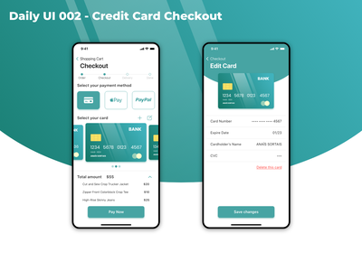 Daily UI 002 Credit Card Checkout uidesign payment method creditcard checkout dailyui002 dailyui app dailyuichallenge