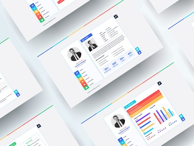 Ruller - CV Resume Vcard PSD Template web vcard skills sale resume responsive portfolio personal freelancer designer cv colorfull businesses card