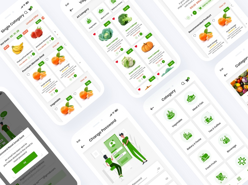 Grocery Delivery Mobile App UI Template shop organic online nuts mobile app market kit ios home kitchen grocery delivery grocery fruits food delivery electronics ecommerce app eatables delivery android agriculture