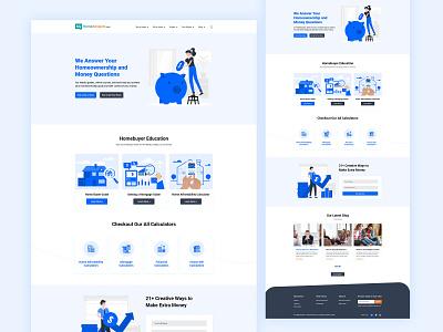 Realestate Landing page ui sell home realestate mortgage modern illustration home owner home mortage home loan freelancer flat extra money designer design buy home branding