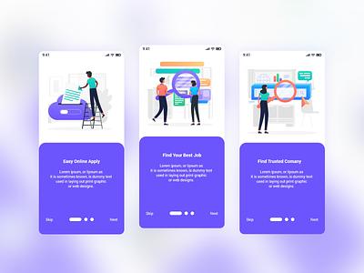 Job Finder Mobile App UI Template recruitment portal job search job portal job finder job freelancer find job clean design clean android app
