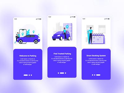 Parking Mobile App UI Template template psd parking app mobile app ios gui car parking bike parking app ui app andorid