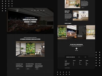 Interior Design Landing Page interface website design uiuxdesign uidesigns uidesign uidesigner intoriar agency branding portfolio flat design