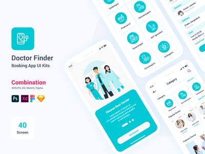 Symp – Doctor Finder Adobe XD Template pharmacy medicine medical consultation medical ios hospital healthcare doctor finder doctor booking clinic calendar booking appointment