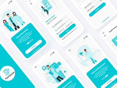 Symp – Doctor Finder Adobe XD Template branding illustration portfolio pharmacy medicine medical consultation medical ios hospital healthcare doctor finder doctor booking clinic calendar booking appointment