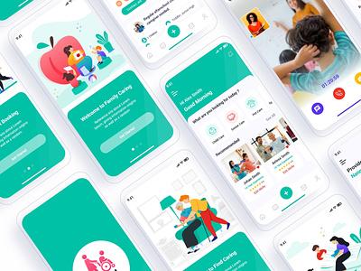 Ward - Caregiver Finder Mobile App UI senior care ui ux