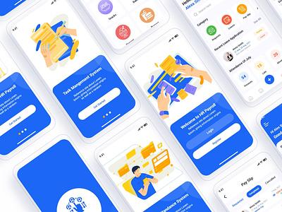 HR Payroll Mobile App UI card ui ui