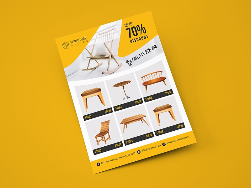 furniture sales flyer template by tauhid hasan dribbble dribbble
