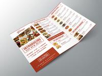 Tri Fold Restaurant Menu