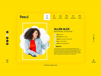 Virtual business card cv resume psd template by tauhid hasan virtual business card cv resume psd template accmission Gallery