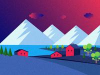 Beautiful Village Near by Himalaya Hills