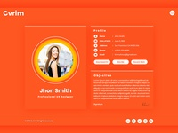 CV Resume Virtual vCard Portfolio HTML5 Template