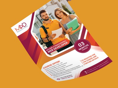 Admission Flyer traning web design agency school admit education admission flyer ed