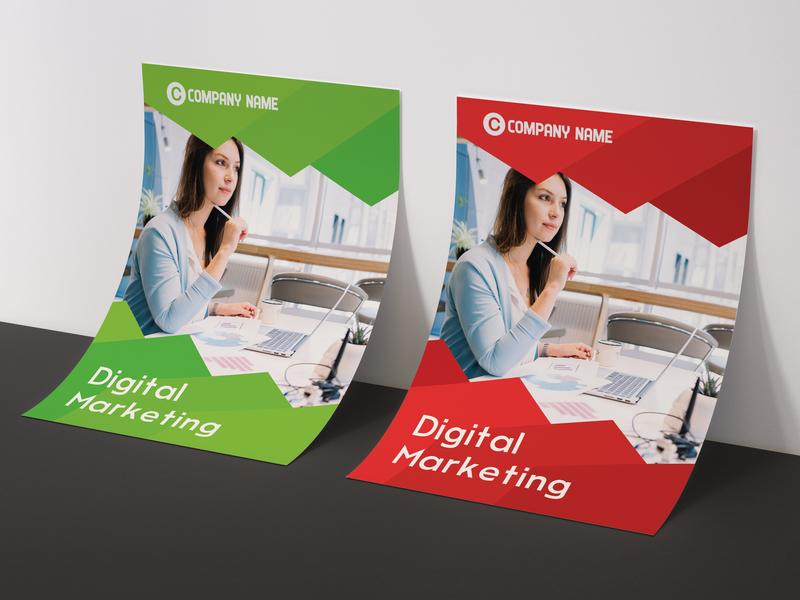 Digital Marketing Flyer designer agency freelancer illustration digital marketing flyer