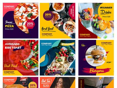 Food Restaurant Social Media Post