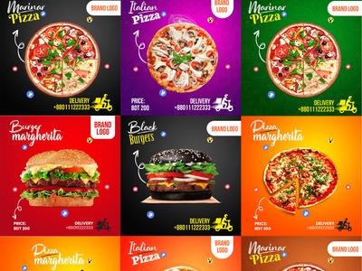 Pizza Burger Social Media Post