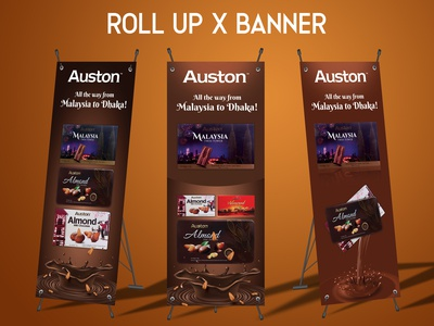 Chocolate Roll up Banner