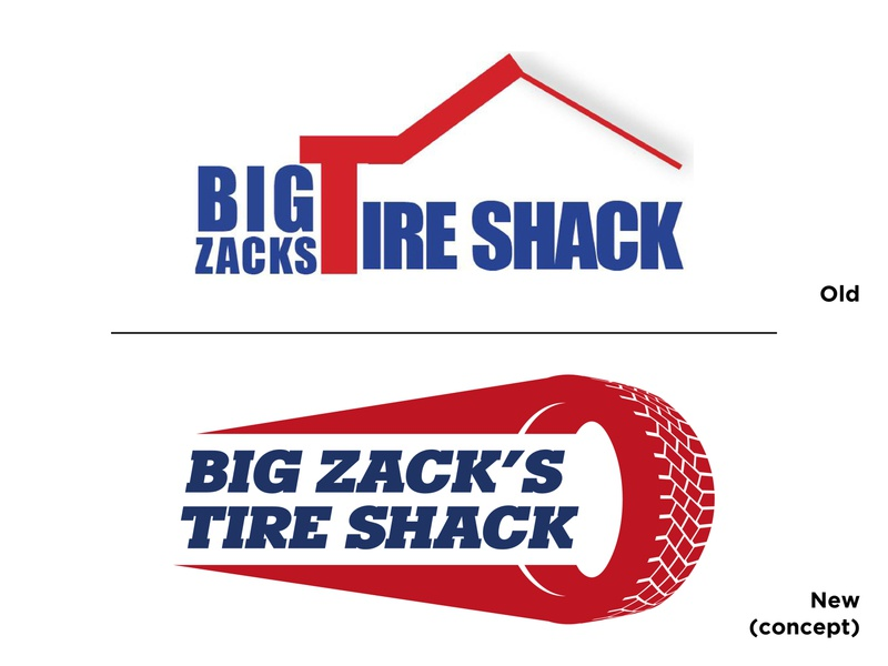 Big Zacks Logo Concept concept tires vector branding logo design graphic design