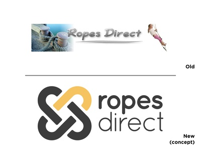Ropes Direct Logo Concept concept ropes vector branding logo design graphic design