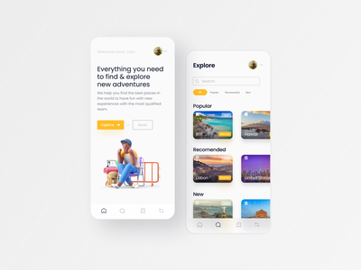 Tripel | UI/UX Design flat minimal web ux design ui design travel agency design ux uiux ui travel app travel