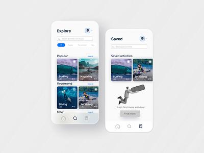 Ocenture | UI/UX Design ocean ocean design ocean app ux flat web ux design uiux ui design minimal ui design