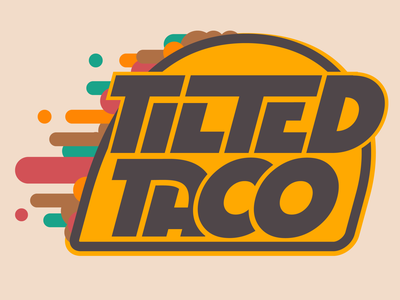 Tilted Taco - Logo illustration vector logo