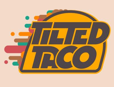 Tilted Taco - Logo illustration vector logo