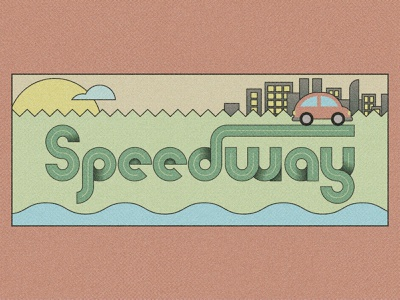 Speedway - SVG Font design font typography illustration